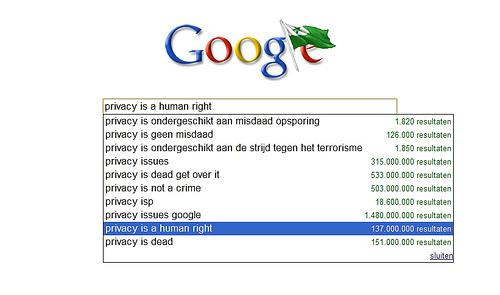 """""""la privacidad es un dercho humano"""" dice la fotografía. Y como tal, debemos exigirlo y cuidarlo BY (Blubrblog) NC-SA"""